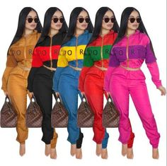 f1278fa6fef6 Fall Winter Tracksuit Women Two Piece Set Long Sleeve Top and Pant Sweat  Suit Sexy Jogger