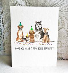 Available on Etsy, featuring a Boxer, Long Hair Chihuahua, Cockapoo, Malamute and Welsh Terrier / Airedale Terrier dogs. By Driven to Ink.