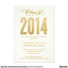 Sparkle Graduation Invitation.  $2.10