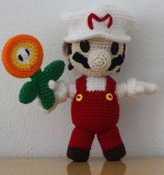 Adorable crochet Mario