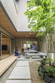Courtyard Design, Patio Design, Garden Design, Modern Courtyard, Design Cour, Futuristisches Design, Design Ideas, Indoor Courtyard, Courtyard House