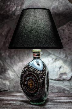 Glass Bottle Crafts, Diy Bottle, Diy Home Crafts, Diy Home Decor, Jack Daniels Soap Dispenser, Bottle Terrarium, Wooden Floor Lamps, Copper Lamps, Home Bar Designs