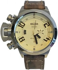 Welder Watch K24 3206 #bezel-fixed #bracelet-strap-leather #brand-welder #case-material-steel #case-width-50mm #classic #date-yes #delivery-timescale-call-us #dial-colour-cream #gender-mens #movement-quartz-battery #new-product-yes #official-stockist-for-welder-watches #packaging-welder-watch-packaging #style-dress #subcat-welder-k24-28 #supplier-model-no-k24-3206 #warranty-welder-official-2-year-guarantee #water-resistant-100m