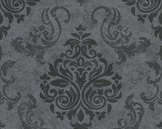 as cration tapete 953723 tapete grau metallics schwarz natur modern - Tapeten Schlafzimmer Schwarz