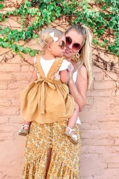 Mustard Yellow Linen Dress | Everley & Me | Omaha Based Mommy & Me Style Blog... Yellow Floral Skirt, SheIn, Yellow Dress, Mustard Linen, Linen Dress, Kids Fashion, Kid Style, Platform Sandals, Straw Shoes, Matching, Mother/Daughter, Outfits, Coordinated, Outfit, Fashion Blogger, Mommy Style, Mama, Toddler Fashion, Little Girl Style