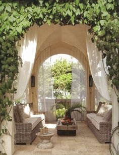Beth Webb Interiors, from Veranda The Art of Outdoor Living - It's called heaven in my world ;)