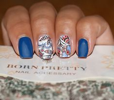 PRODUCT DETAILS: Name: Arabesque Pattern water decal BPY37. Item ID: 33978. Price: $0.99. . You can find this and so many other patterns at www. BornPrettyStore.com and don't forget to type #ANAGA10 at the check out for 10% OFF!. . #nails #nailart #nailreview #bpsreview #bornprettyreview #bornpretty #bpwaterdecals #arabesquenails #nailartvzla #nailsvzla #nailsespaña #uñasvenezuela #ilovewaterdecals #bluenails #shortnails #notd #nailstagram #instanails #nailitdaily #bornprettynailart
