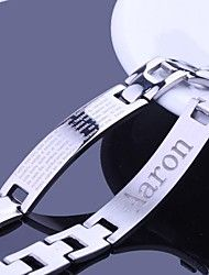 Personalized Gift Men's Jewelry Stainless Steel  Engraved ID Bracelets 1.2cm Width
