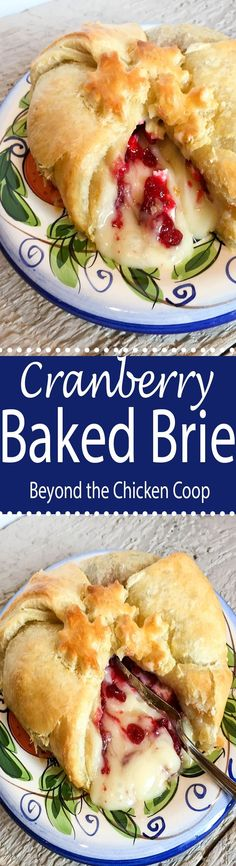 Baked brie with cranberries is a perfect appetizer for any party.