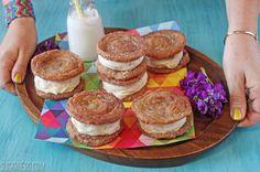 Churro Ice Cream Sandwiches - SugarHero!