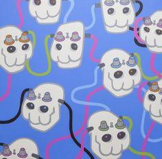 Skulloscillators, 2008, by Pete Fowler