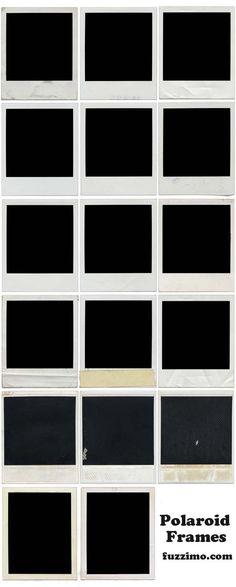 printable  polaroid frames
