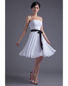 Discount Charming Chiffon Strapless Pleats A-line Bridesmaid Dress [bridesmaid389] - US $146.63 : IdoDress