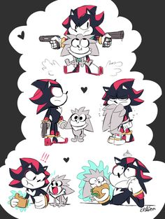 Dadow by on DeviantArt Shadow The Hedgehog, Sonic The Hedgehog, Silver The Hedgehog, Sonic Funny, Sonic 3, Sonic Fan Art, Sonic Mania, Game Character Design, Character Art