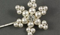 Mini Pearl Snowflake Wedding Hair Grip