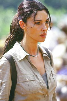 Monica Bellucci in 'Tears Of The Sun.' Every Monica Bellucci fan should see her in this film. If it is possible, you'll love her even more.