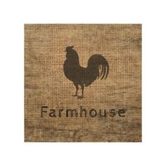Rustic Farmhouse Rooster Country Rustic Burlap Wood Wall Art Farmhouse Wall Art, Rustic Wall Art, Wooden Wall Art, Rustic Farmhouse, Wood Wall, Framed Burlap, Burlap Canvas, Diy Canvas, Burlap Signs