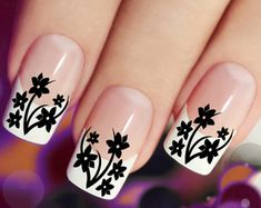 CHERRY BLOSSOMS Nail Art CBR 45 Red Waterslide por NorthofSalem