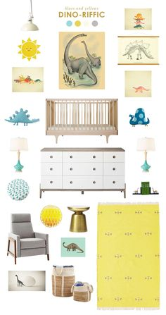 Dinosaur Inspired Baby Nursery by Joni Lay of Lay Baby Lay