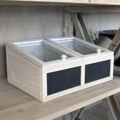 Biggie Best Wooden Antique Washed Blackboard Box