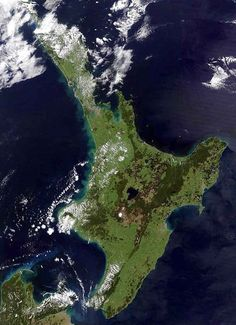 North Island, New Zealand from space
