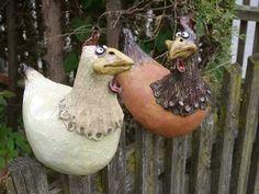 Crazy chicken  made to order by Rakupferamik on Etsy, $219.00