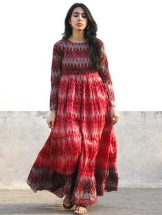 Indian Long Dress, Indian Gowns Dresses, Dress Indian Style, Frock For Women, Night Dress For Women, Cotton Long Dress, Cotton Dresses, Western Style Dresses, Kalamkari Dresses