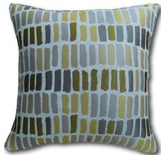 Cushion Covers made in Fryett's Faro Ochre Yellow Reversible concealed zip Yellow Cushions, Cushion Covers Uk, Contemporary Cushions, Soft Furnishings, Absolutely Stunning, Cotton Fabric, Throw Pillows, Zip