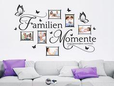 Bilderrahmen Wandtattoo Familien Momente #Fotorahmen #Familie