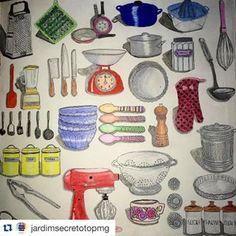 colorido da @jardimsecretotopmg da página dos utensílios domésticos #colorindosegredosdeparis #segredosdeparis #parissecret #secretparis #colorindo #sextante