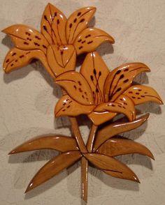 Intarsia | Tiger Lily | Intarsia | Debbie Weindorf Intarsia Wood Art