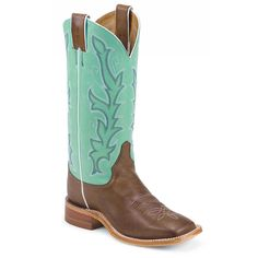 "Justin Women's 13"" Bent Rail Western Boots. Perfect with yellow dresses for an additional pop of color."