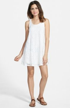 Socialite Lace Racerback Tank Dress (Juniors) available at #Nordstrom