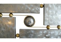 One Kings Lane - Witty & Urbane - Metal & Brass Wall Sculpture