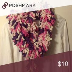Multi colored stretchy scarf Pink, purple, white, and Silver sparkles 8' scarf Accessories Scarves & Wraps