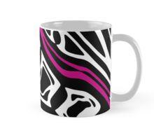 Magenta, black and white abstract art Mug