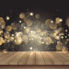 christmas background with wooden table and golden lights Christmas, Bokeh, Lights PNG and Vector Golden Background, Christmas Background, Lights Background, Background Images, Adobe Illustrator, Design Set, Creation Image, Light Wood Texture, Poster Photo