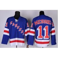 Reebok Mark Messier New York Rangers  11 Replica Hockey Jersey - Blue Mark  Messier Jersey f28e2622e
