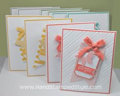Stampin' Up! simple Tags Accessories Hostess Club Cards with Papillion Potpourri created by Hand Stamped Style, THANKS for checking out my P...