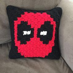 Deadpool inspired 12x12 throw decorative pillow