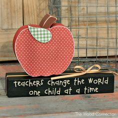 Teacher Appreciation Gift Ideas| The Wood Connection Blog