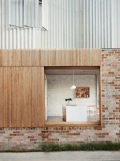 home fachadas Spaces Architecture Renovation, Architecture Résidentielle, Australian Architecture, Design Exterior, Facade Design, House Design, Brick Cladding, Ground Floor, New Homes