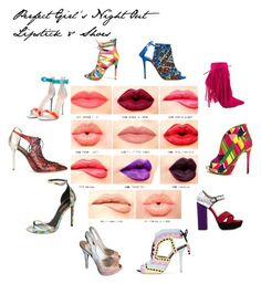 """""""Hott Lips + Hott Shoes = Hott Girl's Night Out!!"""" by itsjustpersonal on Polyvore featuring beauty, NYX, Sophia Webster, Privileged, Gianvito Rossi, Miu Miu, Aquazzura, Malone Souliers, Yves Saint Laurent and Prada"""