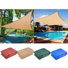 Sun Shade Sail UV Top Outdoor Canopy Patio Lawn 11.5' 16.5' Triangle 18' Square in Home & Garden, Yard, Garden & Outdoor Living, Patio & Garden Furniture | eBay