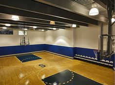 Can't find your man? May want to check the indoor basketball court! #mancaves #basketball