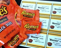 """Reese's Peanut Butter Cup Pun   """"Reese"""" Ons   Valentine's ..."""