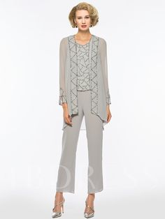 0a6b40238e Sequined 3 Pieces Mother of the Bride Pantsuits with Jacket Mother Of The  Bride Accessories