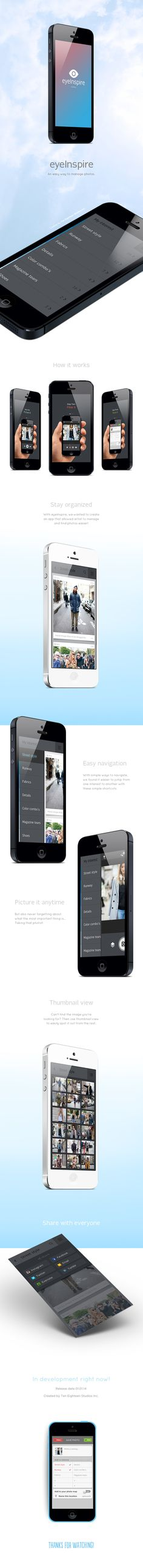 eyeInspire by Joseph Gatto, via Behance