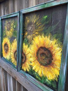 Set of 2 Sunflower Art MADE TO ORDER Original Art