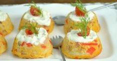 Pastelitos de surimi: aperitivo fácil para Navidad Mango Salsa, Canapes, Sin Gluten, Serving Dishes, Flan, Cooking Time, Seafood, Food And Drink, Appetizers